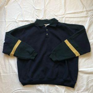 Vintage Colorblock Polo Pullover